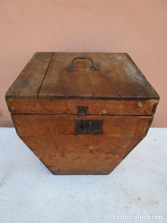 Antigüedades: Antigua Caja - Teodolito - Aparato Topográfico Militar - Madera de Pino - S. XIX - Foto 8 - 200363153