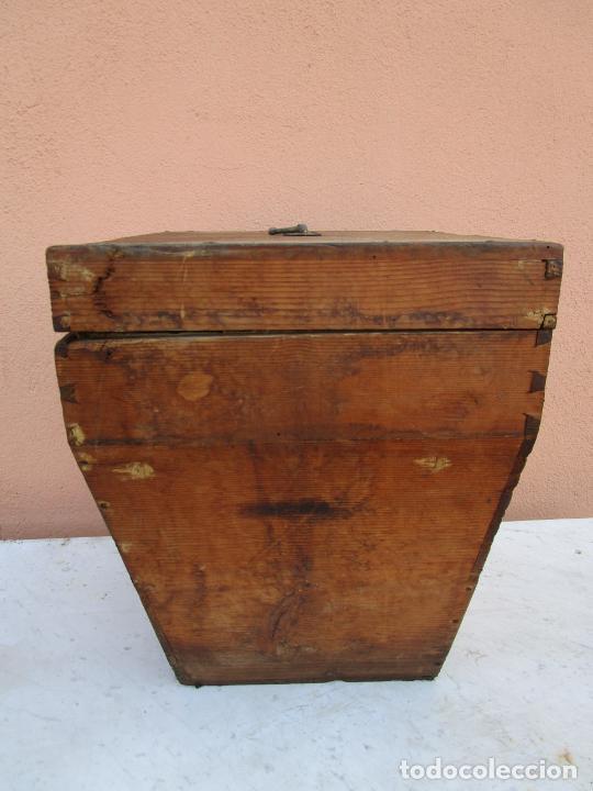 Antigüedades: Antigua Caja - Teodolito - Aparato Topográfico Militar - Madera de Pino - S. XIX - Foto 13 - 200363153