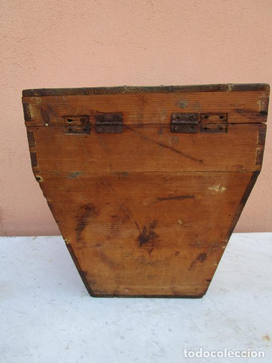 Antigüedades: Antigua Caja - Teodolito - Aparato Topográfico Militar - Madera de Pino - S. XIX - Foto 14 - 200363153