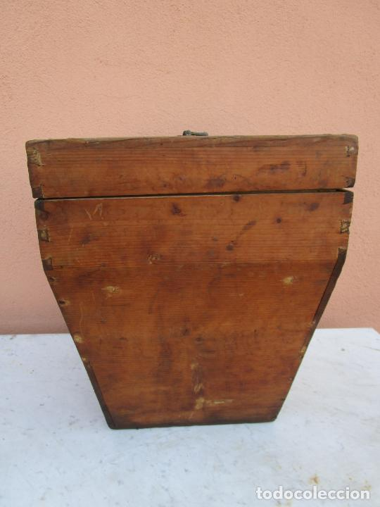 Antigüedades: Antigua Caja - Teodolito - Aparato Topográfico Militar - Madera de Pino - S. XIX - Foto 16 - 200363153