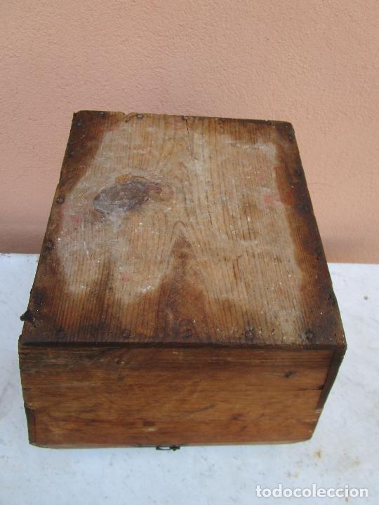 Antigüedades: Antigua Caja - Teodolito - Aparato Topográfico Militar - Madera de Pino - S. XIX - Foto 20 - 200363153
