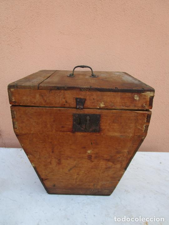 Antigüedades: Antigua Caja - Teodolito - Aparato Topográfico Militar - Madera de Pino - S. XIX - Foto 21 - 200363153
