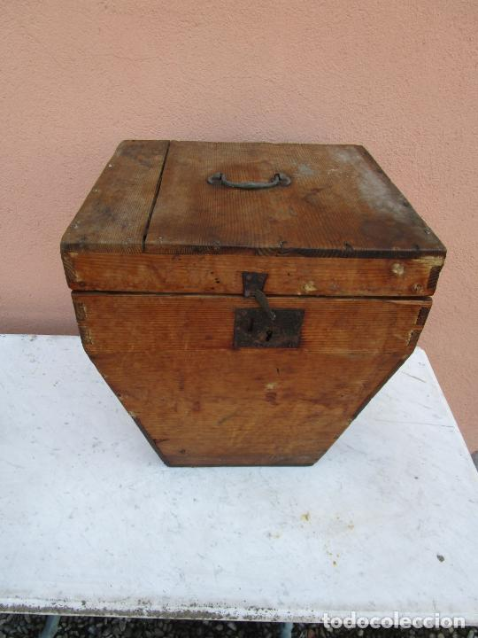 Antigüedades: Antigua Caja - Teodolito - Aparato Topográfico Militar - Madera de Pino - S. XIX - Foto 23 - 200363153
