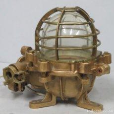 Antiquités: ANTIGUO APLIQUE DE BRONCE DE BARCO. Lote 200368255