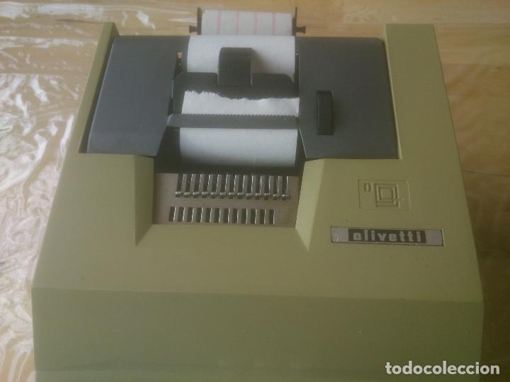 Antigüedades: Antigua Maquina Calculadora de Comercio Años 60 Hispano Olivetti - Foto 2 - 200400175