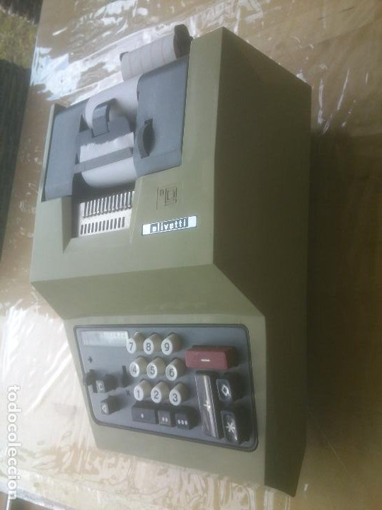 Antigüedades: Antigua Maquina Calculadora de Comercio Años 60 Hispano Olivetti - Foto 5 - 200400175