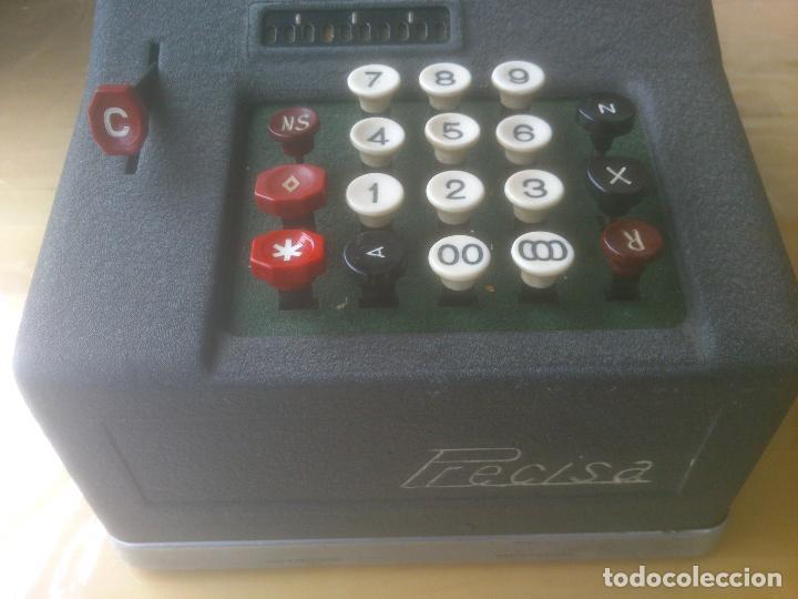 Antigüedades: Calculadora de Comercio Manual marca Precisa Años 60 fabricada en Suiza. - Foto 2 - 200400522