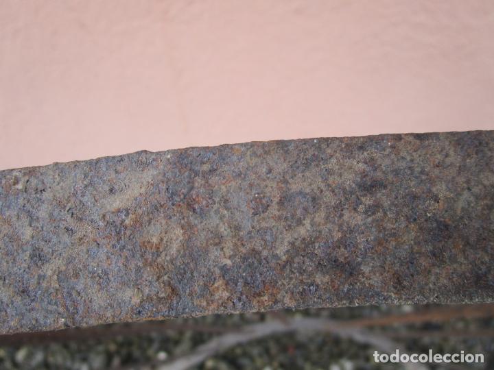 Antigüedades: Pareja de Barandillas - en Forma Curva - Reja Hierro Forjado - Ideal Decoración Consolas - S. XVIII - Foto 26 - 200509293
