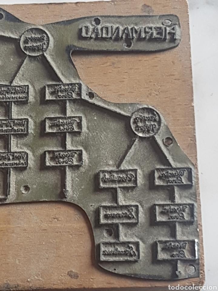 Antigüedades: Placa plancha tampón grabado de imprenta de Hermandad del Santo Sepulcro - Foto 2 - 200536463