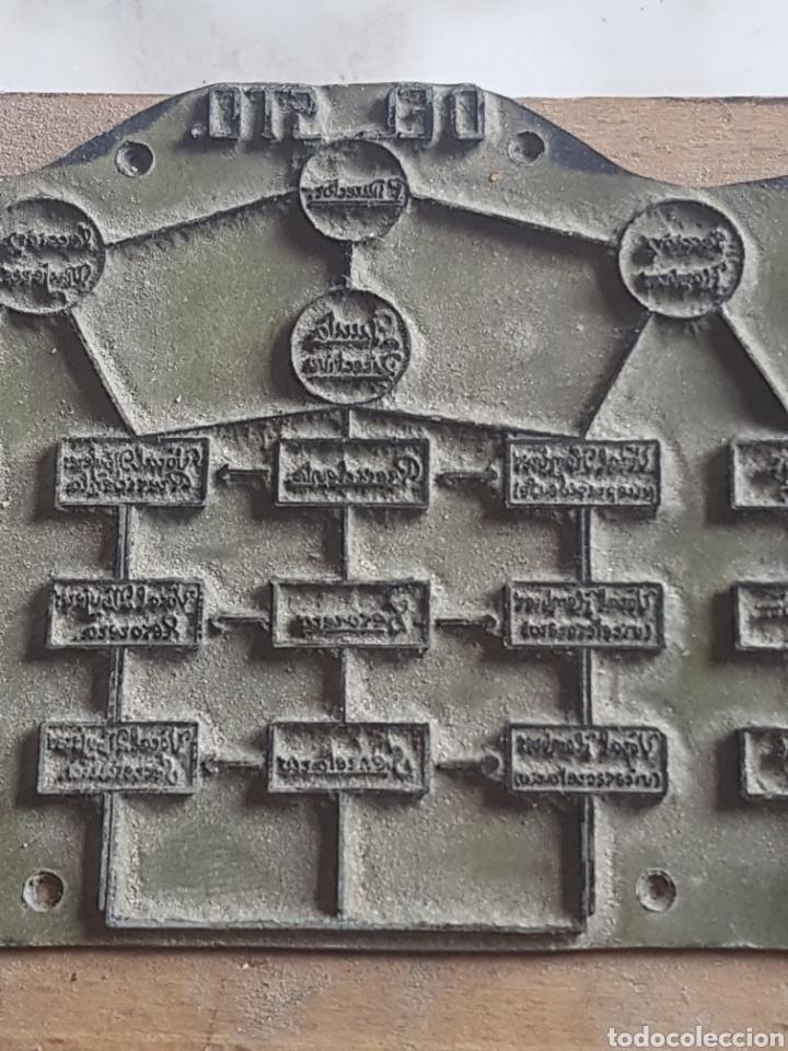 Antigüedades: Placa plancha tampón grabado de imprenta de Hermandad del Santo Sepulcro - Foto 3 - 200536463