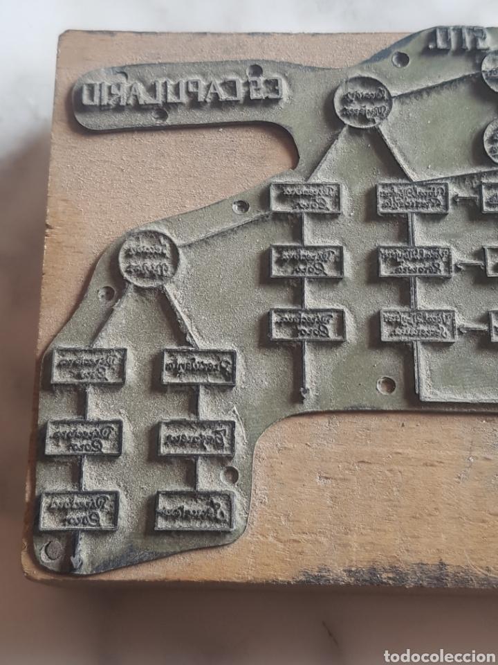 Antigüedades: Placa plancha tampón grabado de imprenta de Hermandad del Santo Sepulcro - Foto 4 - 200536463