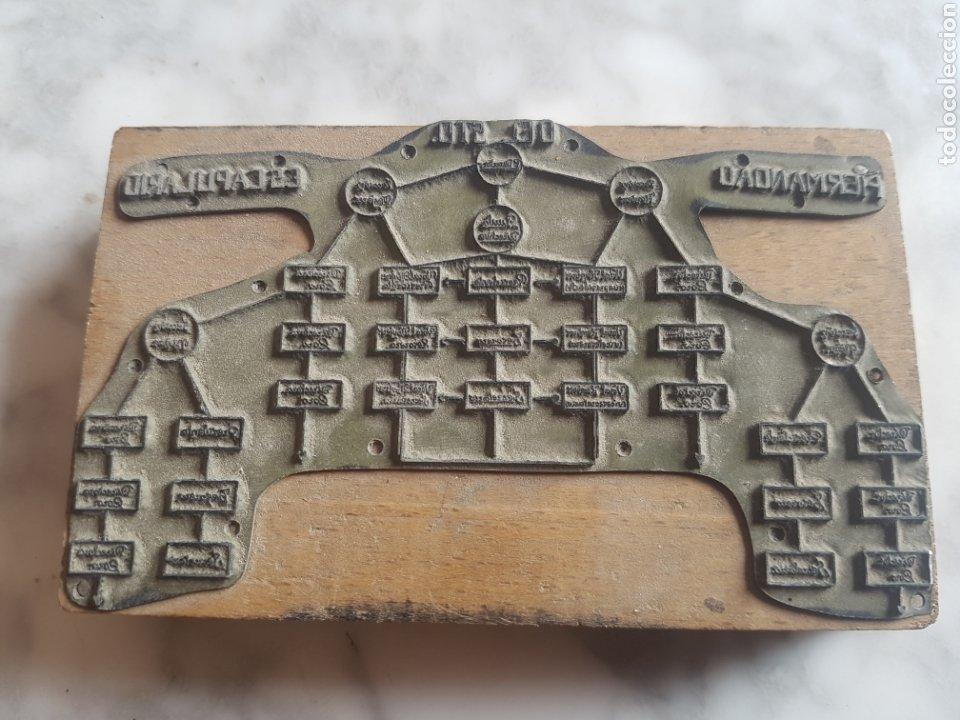 PLACA PLANCHA TAMPÓN GRABADO DE IMPRENTA DE HERMANDAD DEL SANTO SEPULCRO (Antigüedades - Técnicas - Herramientas Profesionales - Imprenta)