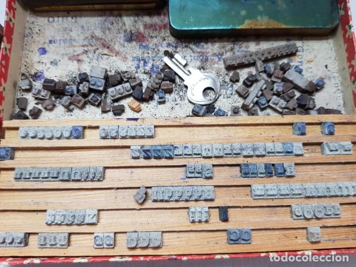 Antigüedades: Juego tampones Imprentilla Infantil años 30 en caja original - Foto 3 - 200549252