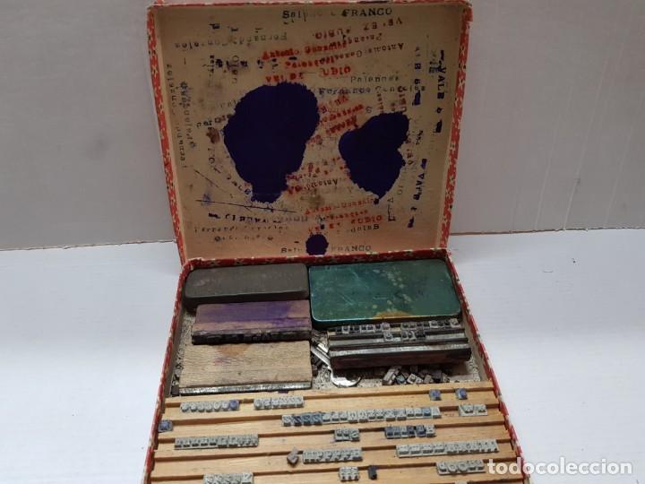 Antigüedades: Juego tampones Imprentilla Infantil años 30 en caja original - Foto 5 - 200549252