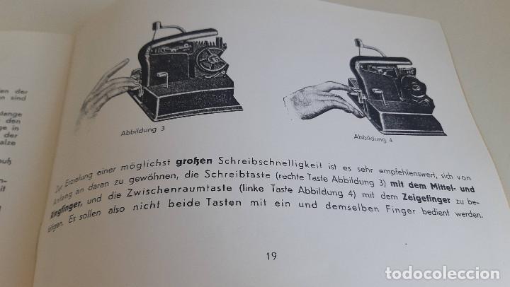 Antigüedades: Instrucciones, en aleman, maquina de escribir AEG Mignon - Foto 5 - 200571906