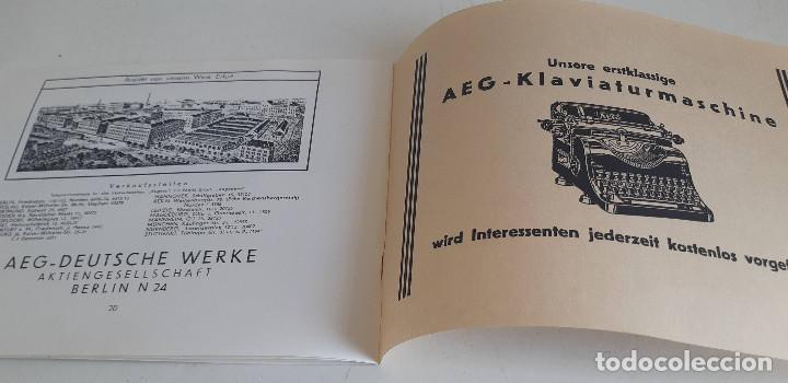 Antigüedades: Instrucciones, en aleman, maquina de escribir AEG Mignon - Foto 6 - 200571906
