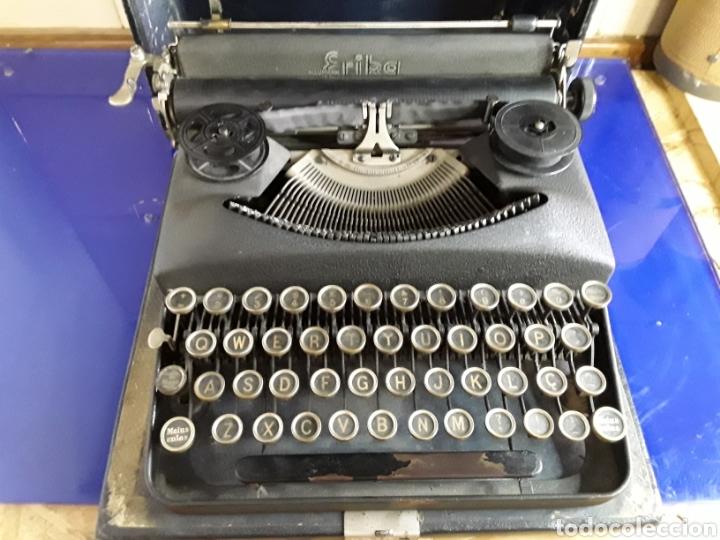 Antigüedades: Preciosa máquina de escribir ERIKA portatil - Foto 4 - 200622246