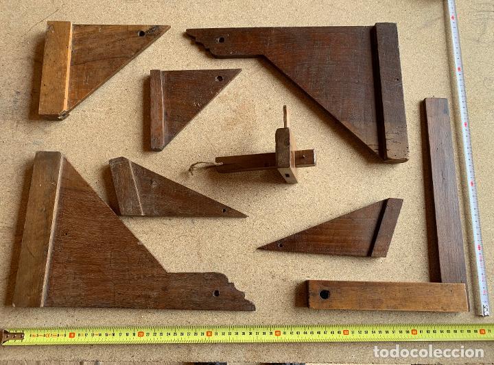 Antigüedades: MATERIAL MADERA ANTIGUO CARPINTERIA . SIERRA , ESCUADRAS .PERFILADOR .NOGAL. FORJA . 9 . - Foto 8 - 200638403