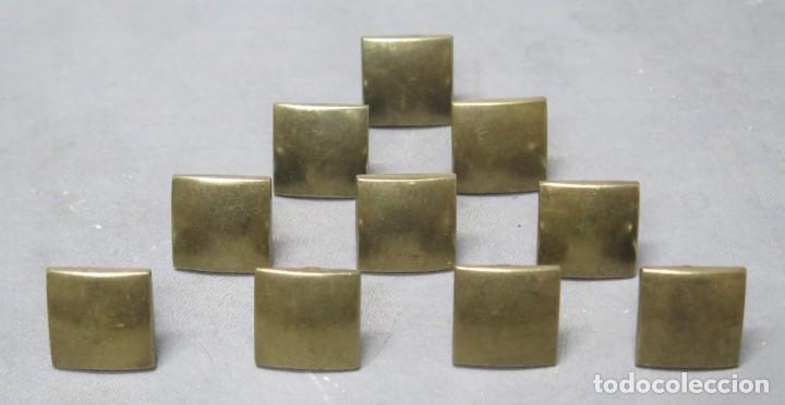 10 TIRADORES DE BRONCE. NAVARRO AZORIN (Antigüedades - Técnicas - Cerrajería y Forja - Tiradores Antiguos)