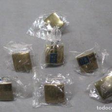 Antigüedades: 7 TIRADORES DE BRONCE. NAVARRO AZORIN. SIN ESTRENAR. Lote 200648687