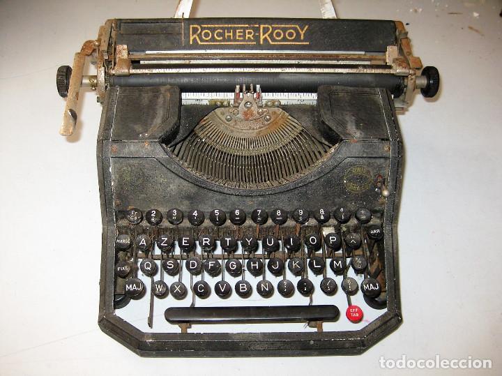 RARA Y ANTIGUA MÁQUINA DE ESCRIBIR ROCHER ROOY, COMPLETA, PARA DECORACIÓN (Antigüedades - Técnicas - Máquinas de Escribir Antiguas - Otras)