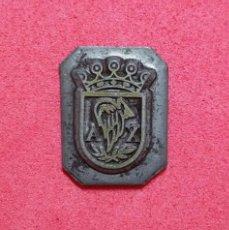 Antigüedades: ANTIGUO TAMPON SELLO TIPOGRAFICO IMPRENTA..ESCUDO AYUNTAMIENTO DE ALEIXAR ( TARRAGONA). Lote 200837333