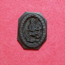 Antigüedades: ANTIGUO TAMPON SELLO TIPOGRAFICO IMPRENTA..ESCUDO CABALLERO. Lote 200849678