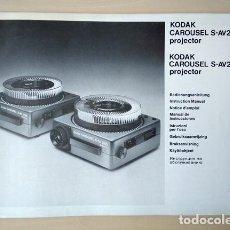 Antigüedades: KODAK CAROUSEL S-AV2020, S-AV2030 PROJECTOR. MANUAL DE INSTRUCCIONES. 1980. Lote 201111346