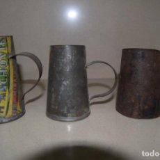 Antigüedades: TRES MEDIDAS DE HOJALATA. Lote 201141236