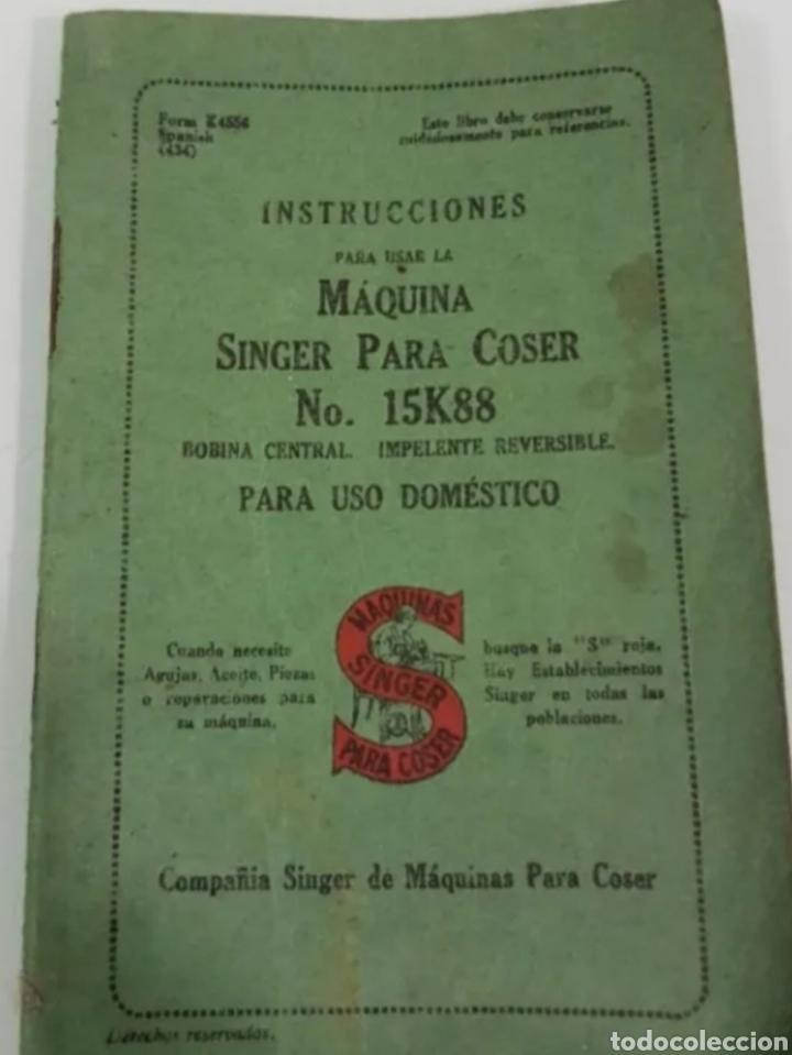 INSTRUCCIONES MANEJO MÁQUINAS DE COSER (Antigüedades - Técnicas - Máquinas de Coser Antiguas - Complementos)