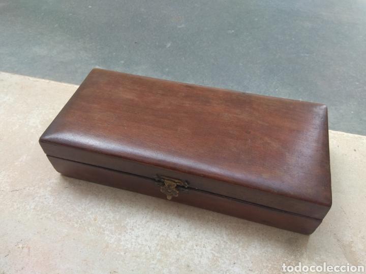 Antigüedades: Caja de Madera para Navajas de Barbero - Foto 3 - 124516186