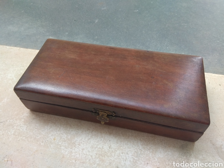 Antigüedades: Caja de Madera para Navajas de Barbero - Foto 4 - 124516186
