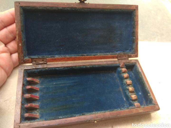 Antigüedades: Caja de Madera para Navajas de Barbero - Foto 5 - 124516186
