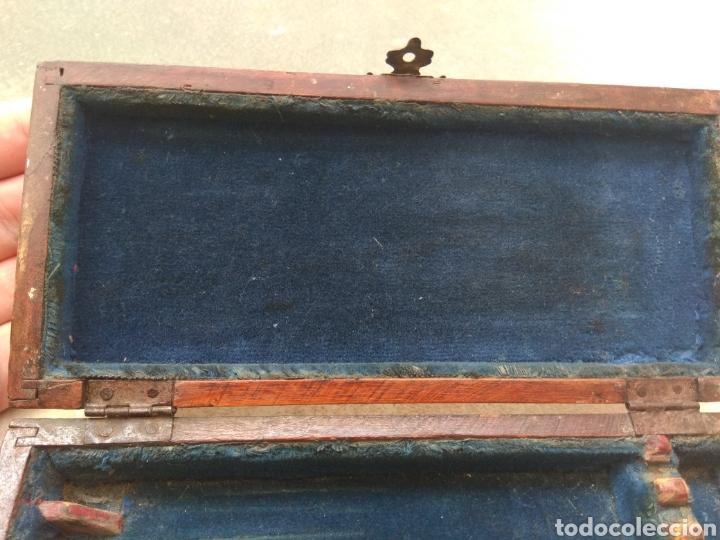 Antigüedades: Caja de Madera para Navajas de Barbero - Foto 7 - 124516186