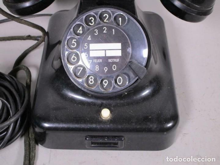 Teléfonos: ANTIGUO CLASICO SIEMENS TELEFONO DE DIAL ROTATIVO W48 MT, NEGRO FUNCIONANDO 170,00 € - Foto 2 - 201195172