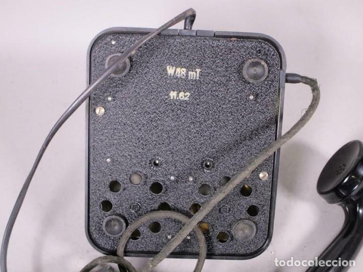 Teléfonos: ANTIGUO CLASICO SIEMENS TELEFONO DE DIAL ROTATIVO W48 MT, NEGRO FUNCIONANDO 170,00 € - Foto 3 - 201195172
