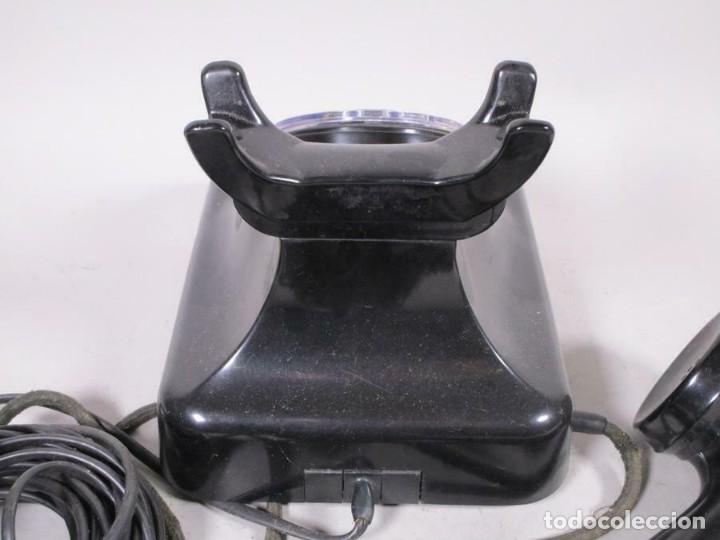 Teléfonos: ANTIGUO CLASICO SIEMENS TELEFONO DE DIAL ROTATIVO W48 MT, NEGRO FUNCIONANDO 170,00 € - Foto 4 - 201195172