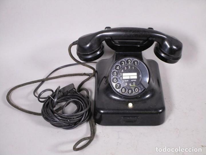 ANTIGUO CLASICO SIEMENS TELEFONO DE DIAL ROTATIVO W48 MT, NEGRO FUNCIONANDO 170,00 € (Antigüedades - Técnicas - Teléfonos Antiguos)