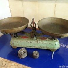 Antigüedades: ANTIGUA BALANZA MARCA VULCANO DE 5KG. Lote 201196870