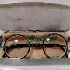 Antigüedades: GAFAS DE PRINCIPIO DE SIGLO XX CON FUNDA - CAREY Y PLATA . Lote 201202093