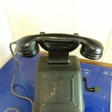Teléfonos: ANTIGUO TELÉFONO DE BAQUELITA Y CHAPA DE PALANCA. Lote 201239070