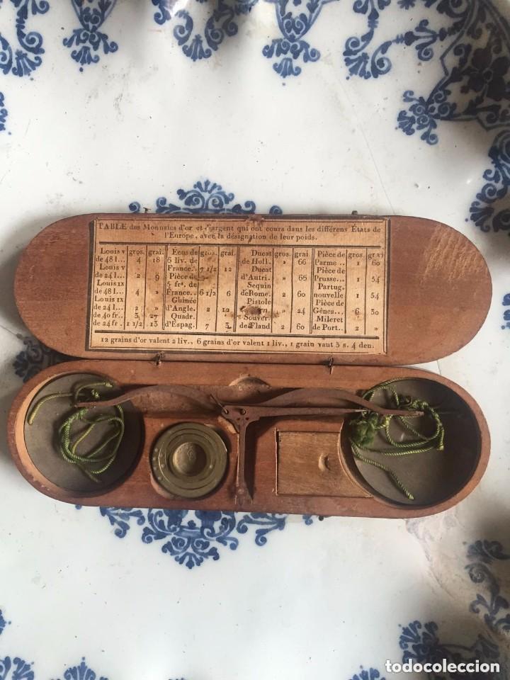 BALANZA DE PRECISIÓN PARA MONEDAS DE ORO - S. XVIII (Antigüedades - Técnicas - Medidas de Peso - Balanzas Antiguas)