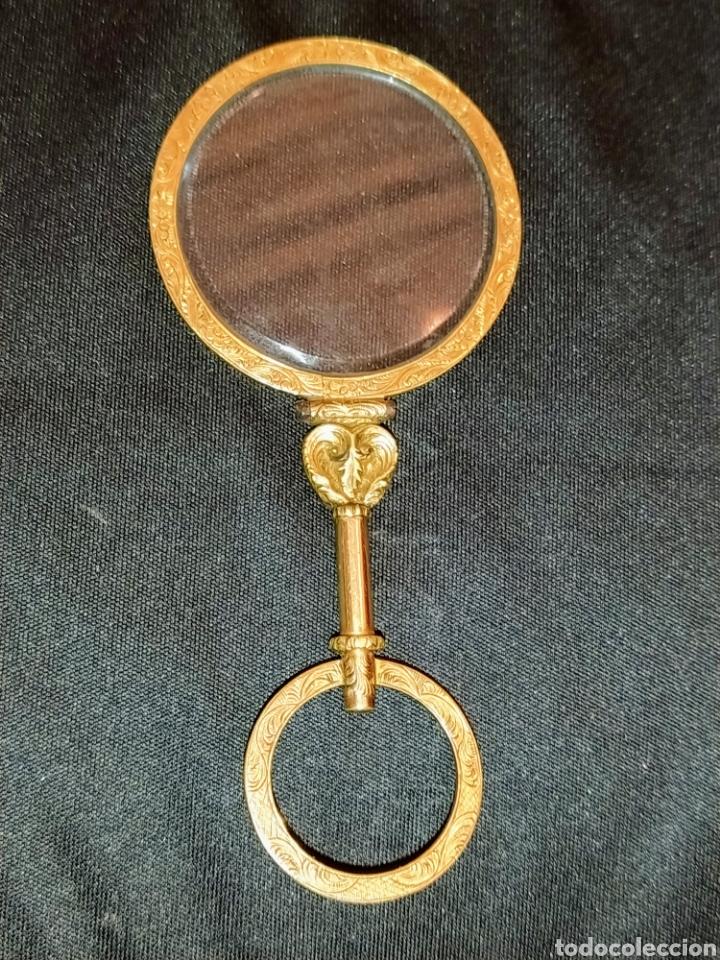 Antigüedades: Extraordinaria lupa en oro siglo XVIII. - Foto 4 - 201250560