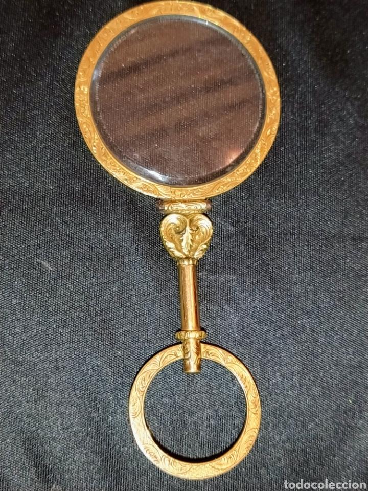 EXTRAORDINARIA LUPA EN ORO SIGLO XVIII. (Antigüedades - Técnicas - Instrumentos Ópticos - Lupas Antiguas)
