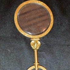 Antigüedades: EXTRAORDINARIA LUPA EN ORO SIGLO XVIII.. Lote 201250560