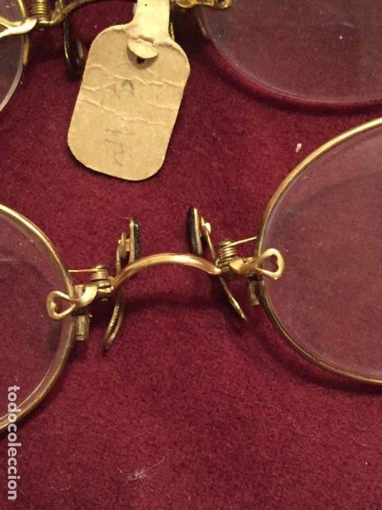 Antigüedades: LENTES ANTIGUAS QUEVEDOS - Foto 2 - 201259333