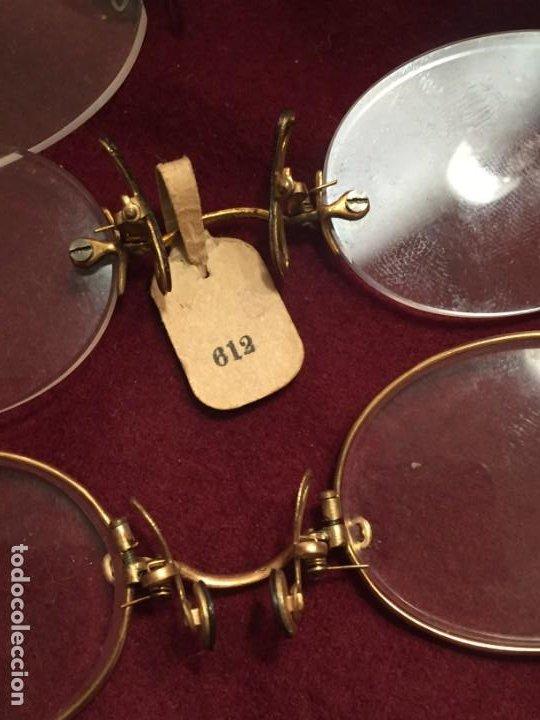 Antigüedades: LENTES ANTIGUAS QUEVEDOS - Foto 4 - 201259333