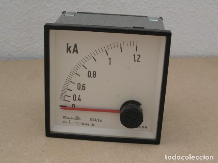 Antigüedades: Amperimetro empotrable analogico de la marca celsa. - Foto 2 - 201290232