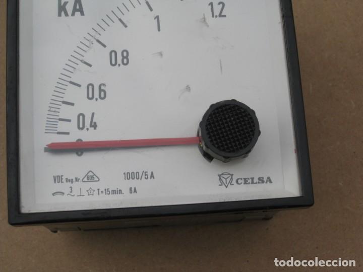 Antigüedades: Amperimetro empotrable analogico de la marca celsa. - Foto 3 - 201290232