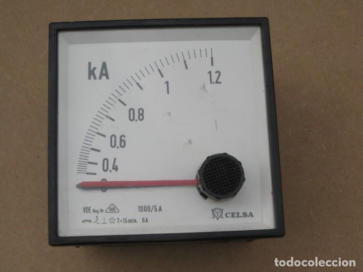 Antigüedades: Amperimetro empotrable analogico de la marca celsa. - Foto 4 - 201290232
